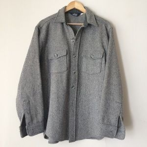 perfect grey & white woolrich flannel shacket